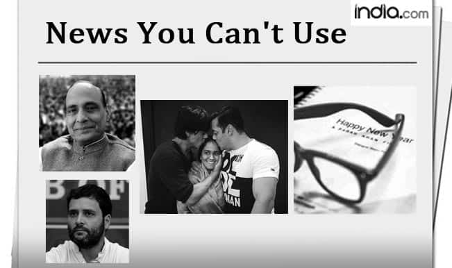 News You Can't Use: Salman hugs SRK, Kim's coming to Bigg Boss and Rajnath's Uncertainty Principle