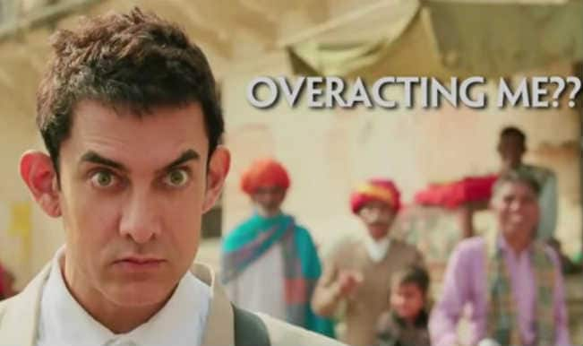 PK Funnies: Rajkumar Hirani calls Aamir Khan an Over Actor!