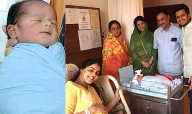 Riteish Deshmukh and Genelia D'Souza's baby picture is ...