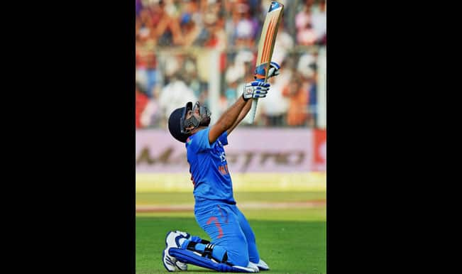 Rohit Sharma 264 runs full video: Rohit Sharma celebrates second double century against Sri Lanka at Eden Gardens in 4th ODI