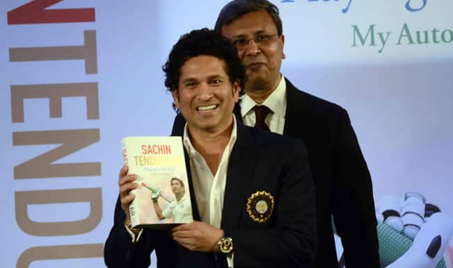 Sachin Tendulkar releases his autobiography Playing it my way, co-authored by Boria Majumdar