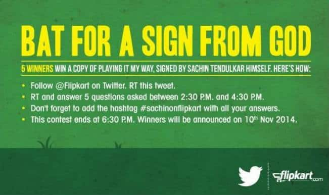 Flipkart offers signed copies of Sachin Tendulkar's autobiography Playing It My Way