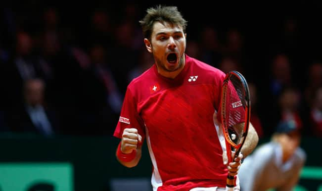 Stanislas Wawrinka beats Jo-Wilfried Tsonga, gives 1-0 lead to Switzerland in Davis Cup Final