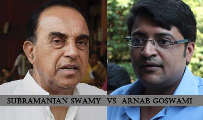 Dr Subramanian Swamy vs Arnab Goswami: The Nation now knows how Swamy showed Goswami his place!