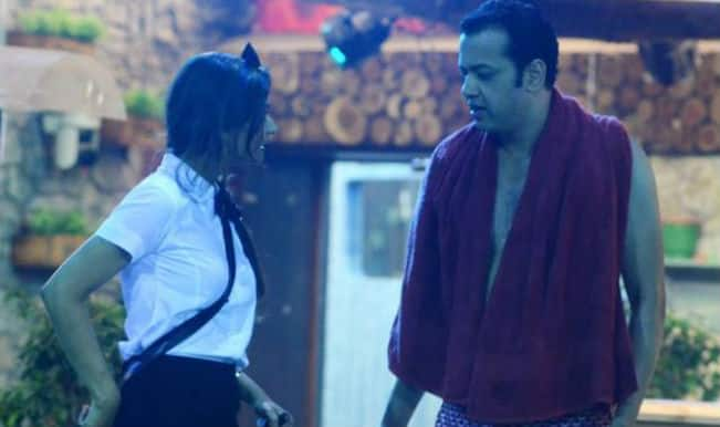 Bigg Boss 8: When ex-flames Dimpy and Rahul Mahajan came face-to-face!