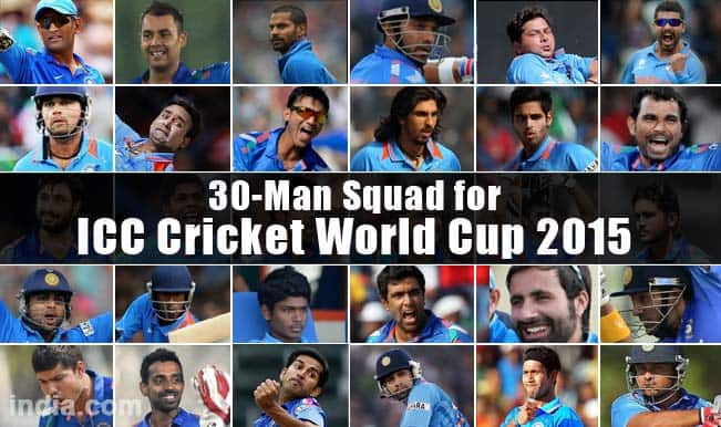Know all the players of Team India for ICC Cricket World Cup 2015: 30-player squad announced