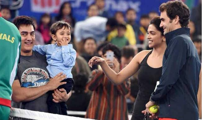 Roger Federer finds Aamir Khan's son Azad his most adorable fan in India!