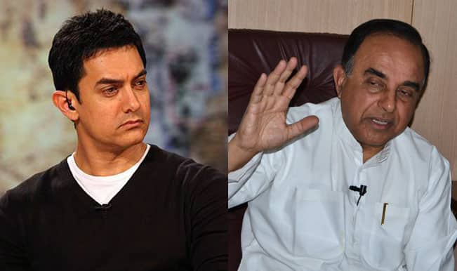 Aamir Khan's PK was funded by underworld, claims BJP politico Subramanian Swamy!