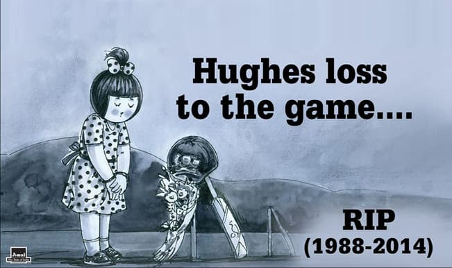Phillip Hughes death is 'Huge loss to the game', Amul pays an emotional homage with #putoutyourbats!