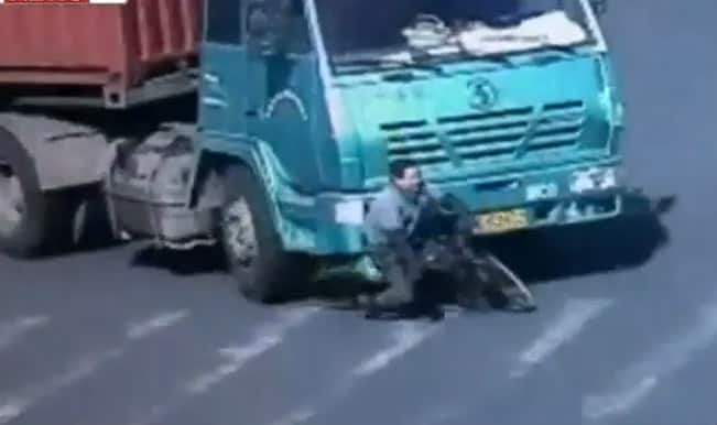 Shocking: Man hit by a container truck, what happened next will make you believe in miracles!