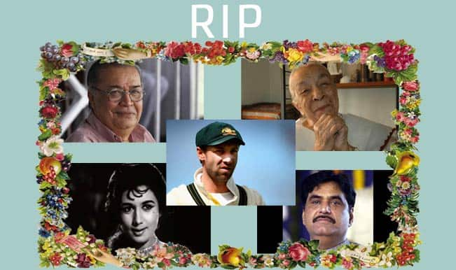 Phillip Hughes, Zohra Segal, Deven Varma: Famous celebrities who passed away this year
