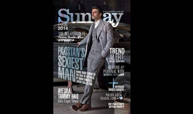 Fawad Khan sports new moustache look as Pakistan's 'Sexiest Man Alive' graces Sunday Times Magazine cover