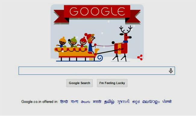 'Tis the Season!: Colourful reindeer Google doodle welcomes the first day of Happy Holidays