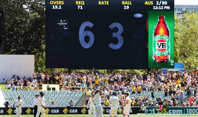 aus wicket falling 4th test