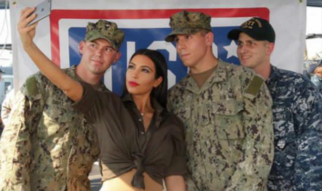 Kim Kardashian 'honoured' to meet US marines