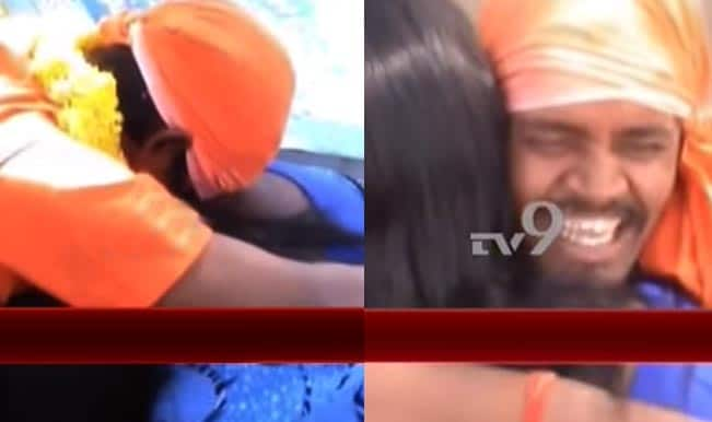 Hugging and Kissing Baba arrested in Kadapa: Watch video of fake godman kissing women devotees