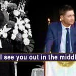 Michael Clarke hopes to see Phillip Hughes 'out in the middle' as he delivers an emotional yet powerful eulogy!