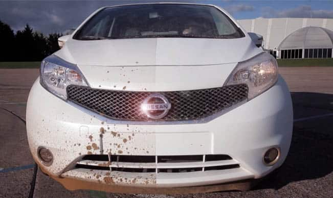 Self-cleaning car technology developed by Nissan: Watch video