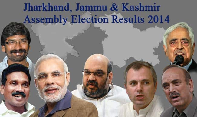 Jammu and Kashmir, Jharkhand State Assembly Election Results 2014 Live News Update: PDP wins 25, BJP 24 in J & K; BJP win 30, JMM 17 seats in Jharkhand