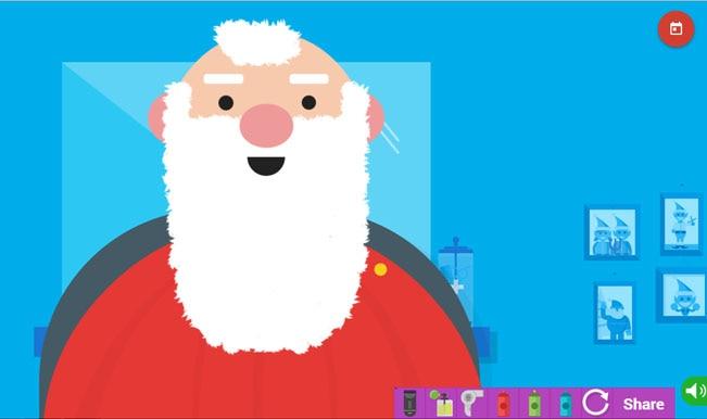 Santa Claus Tracker: New game lets you colour Santa's beard - India ...