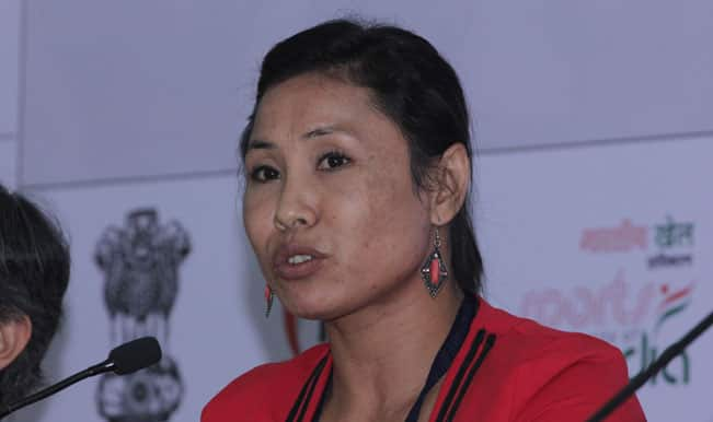 Sarita Devi handed over Asian Games 2014 Bronze medal by Indian Olympic Association