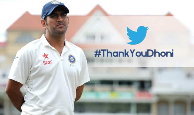 #ThankYouDhoni Trends on Twitter after MS Dhoni announced retirement from Test Cricket