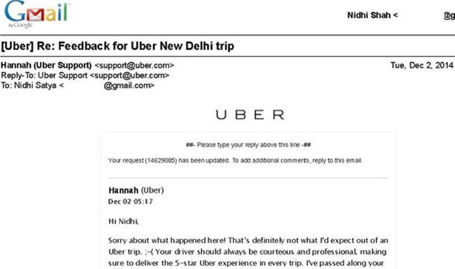 uber customer service number