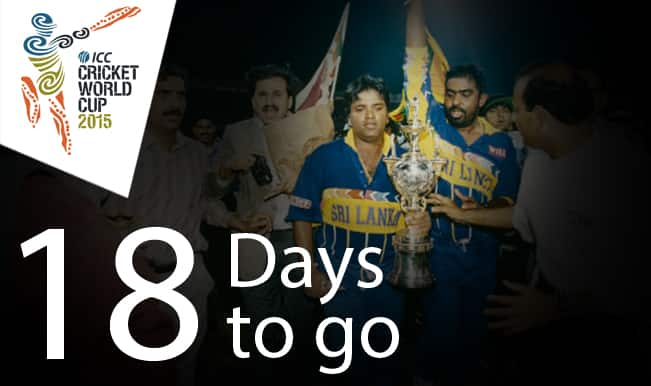 ICC Cricket World Cup 2015 Countdown Day 18: Underdog Sri Lanka defeat favourites Australia to lift 1996 World Cup