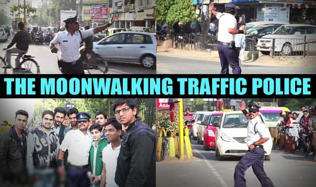 Moonwalking policeman inspires people to follow traffic rules in India! (Watch video)
