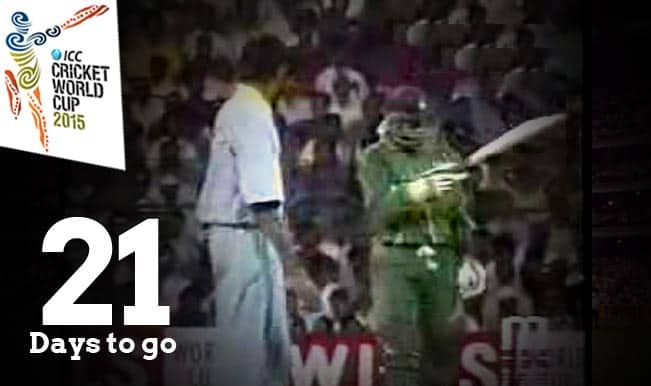 ICC Cricket World Cup 2015 Countdown Day 21: Battle within a battle; Aamir Sohail vs Venkatesh Prasad during the India vs Pakistan in 1996 World Cup