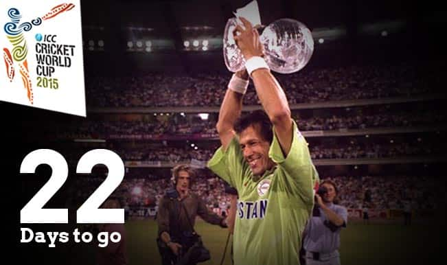 "ICC Cricket World Cup 2015 Countdown Day 22: Imran Khan's ""Cornered Tigers"" lift 1992 World Cup"