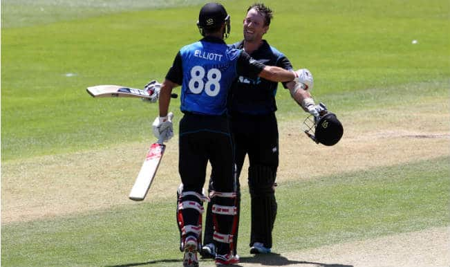 Luke Ronchi, Grant Elliot put up record partnership; help New Zealand beat Sri Lanka by 108 runs in 5th ODI