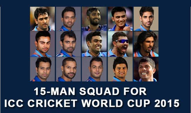 Know all the players of Team India for ICC Cricket World Cup 2015: Final 15-player squad announced