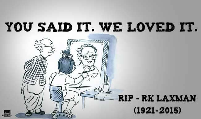 Amul ad pays tribute to R K Laxman, the great cartoonist