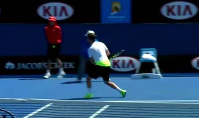 Australian Open ball boy gets hit by Felieciano Lopez's 121 mph serve – in his crotch! Watch Video