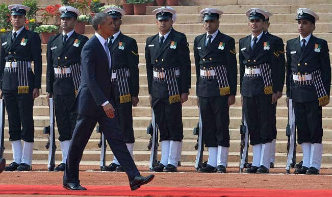 Obama in India: US President Barack Obama begins India visit with 21-gun salute, red carpet welcome