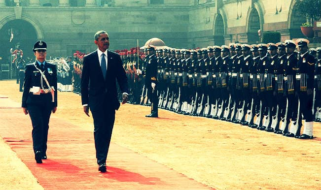 Obama in India: Woman leads guard of honour for the first time at Rashtrapati Bhavan