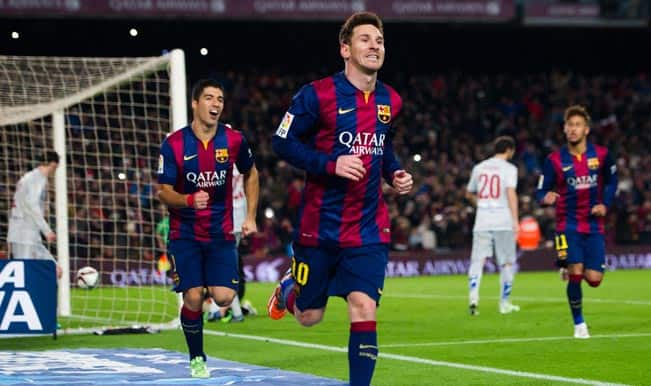 Copa del Rey 2014-15: Lionel Messi gives Barcelona 1-0 win over Atletico Madrid in first-leg