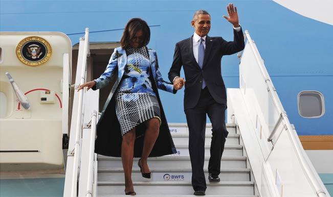 भारतवंशी डिजाइनर की पोशाक में दिखीं मिशेल ओबामा