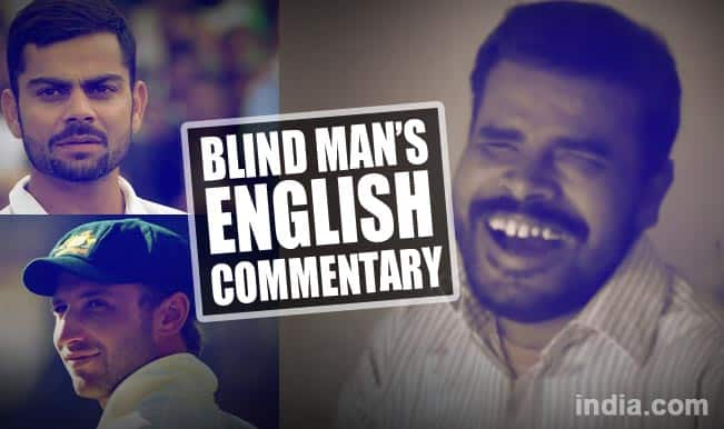 Virat Kohli, Phillip Hughes in Blind Man's English cricket commentary will leave you stunned! Watch full video