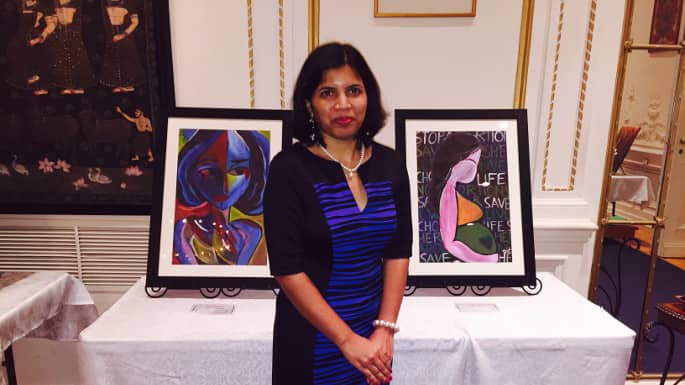 Artist Dipti Kulkarni Receives Recognition Award for art Series From Indian Consulate