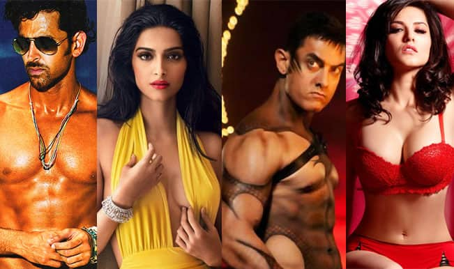 10 sexy skinshows of 2014: Aamir Khan, Sunny Leone, Hrithik Roshan, Sonam Kapoor-stars drop their clothes to sensational effects!