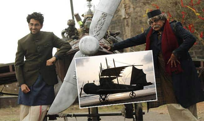 Did Ayushmann Khurrana's Hawaizaada team create a real plane for the movie?