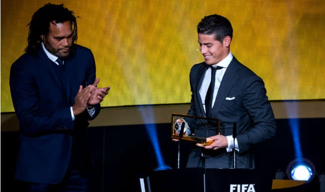 FIFA Puskas 2014 award winner James Rodriguez claims it'll be difficult to replicate his goal against Uruguay