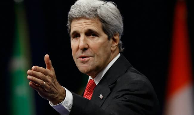John Kerry unhurt in 'minor' road accident departing India