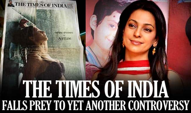 Juhi Chawla takes down The Times of India for 'naked woman in shower' picture on jacket