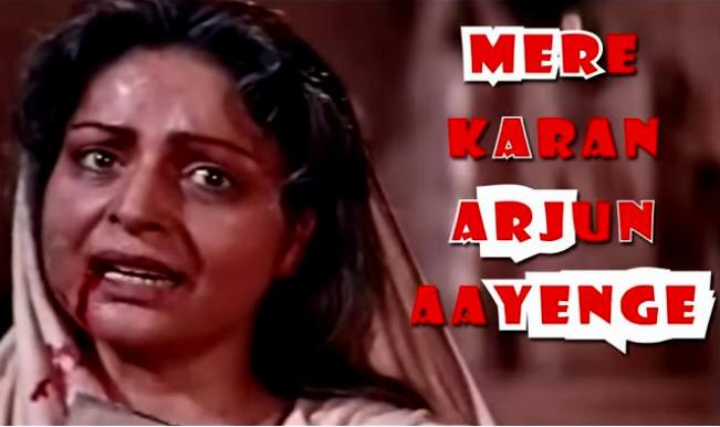 Karan Arjun turns 20: Shah Rukh Khan and Salman Khan can laugh at this hilarious dubstep of Rakhee from their movie!