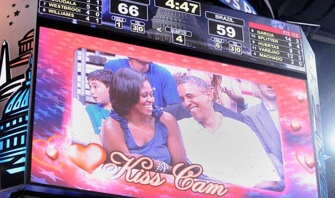 Girl reacts cleverly after Boyfriend's Kiss Cam Snub during New York Knicks-Houston Rockets game: Watch Video