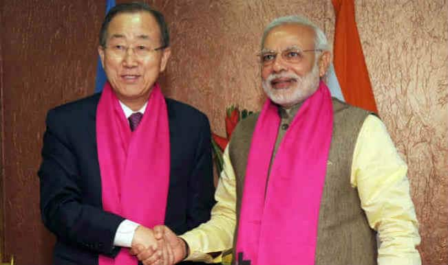 Narendra Modi discusses climate change, clean energy with UN chief