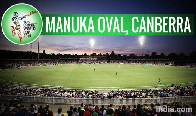 ICC Cricket World Cup 2015 Schedule at Manuka Oval, Canberra: Get Timetable and Ticket details of CWC 15 matches